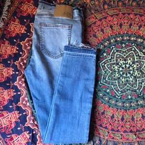 Band of Gypsies skinny jeans with distressed hem